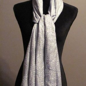 New Lightweight Gray Sheer Shimmer Shawl Wrap